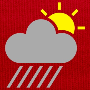 Yellow weather symbol - sun could rain T-Shirts - Winter Hat