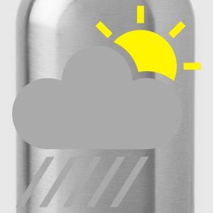 Yellow weather symbol - sun could rain T-Shirts - Water Bottle