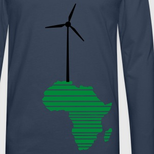 Sky Wind wheel for renewable energies T-Shirts - Men's Premium Longsleeve Shirt