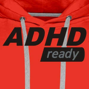 Rød ADHD ready Girlie - Premium hettegenser for menn
