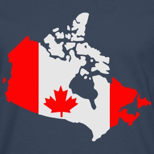 Royal blue Canada flag map T-Shirts - Men's Premium Longsleeve Shirt
