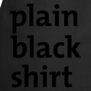 Black plain black shirt T-Shirts - Cooking Apron