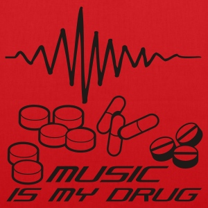 Rosa Music is my Drug T-shirts - Tygväska
