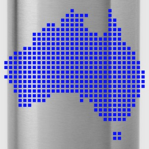Blu royal Australia pixel map Maglietta - Borraccia