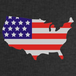 Sort Stars and Stripes of USA, United States of America  T-shirts - Herresweatshirt fra Stanley og Stella