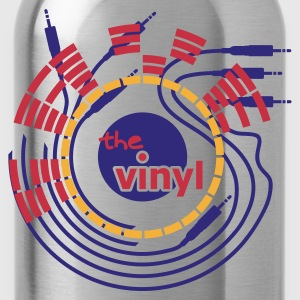 Chocolate save the vinyl v2 (© alteerian) T-Shirts - Trinkflasche