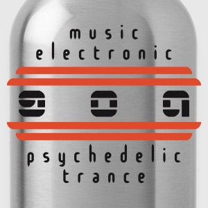 Schwarz goa psychedelic trance v3 (© alteerian) T-Shirts - Trinkflasche