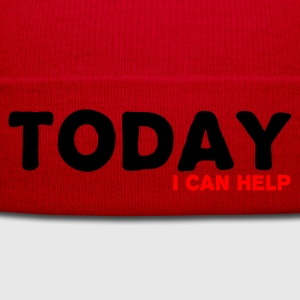 Rosso Today I can help T-shirt - Cappellino invernale