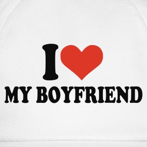 White I love my boyfriend Ladies' - Baseball Cap