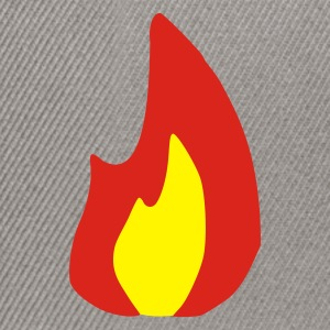 Verde erba Fire - Flame - Hot - Burn T-shirt - Snapback Cap