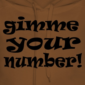 Yellow gimme your number Men's Tees - Women's Premium Hoodie