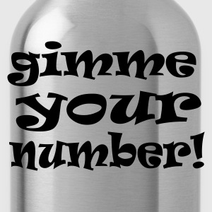 Yellow gimme your number Men's Tees - Water Bottle
