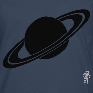 Turquoise Saturn - Planet - Astronaut - Space T-shirts - T-shirt manches longues Premium Homme