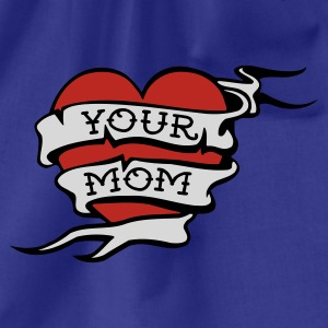 Royal blue Your Mom Men's Tees - Drawstring Bag