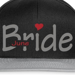 Black June Bride (wedding, honeymoon) Women's Tees - Snapback Cap