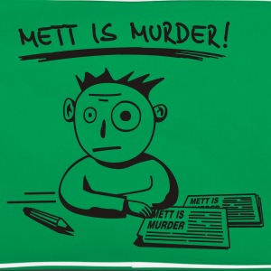 Mens 'METT IS MURDER!' - Retro Tasche