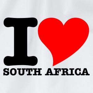 White I Love South africa Women's Tees - Drawstring Bag