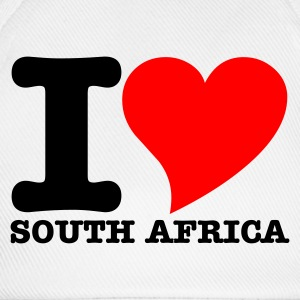 White I Love South africa Women's Tees - Baseball Cap