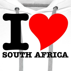 White I Love South africa Women's Tees - Men's Premium Hoodie
