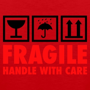 Rot fragile - handle with care T-Shirts - Männer Premium Tank Top