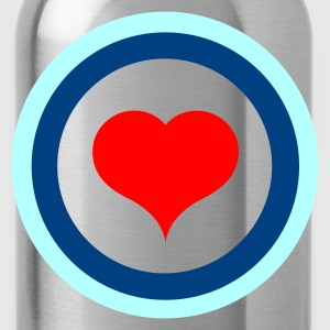 Target Heart (v1, 3c, MPde) - Trinkflasche
