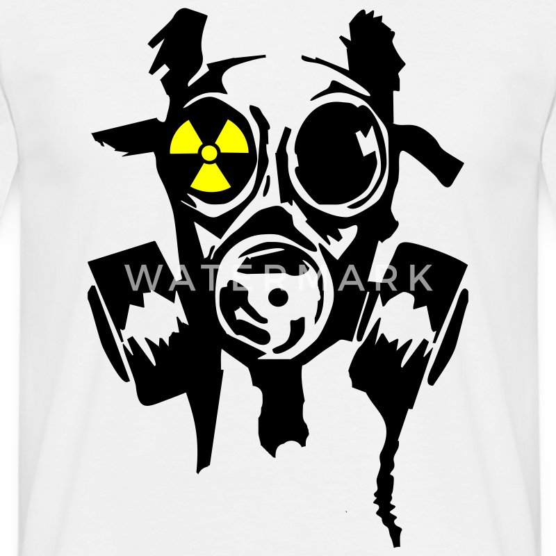 White bad gasmask radioactiv1 T-Shirts - Men's T-Shirt