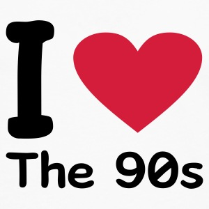 Blanco I love the 90s Camisetas - Camiseta de manga larga premium hombre