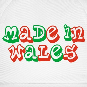 Made in Wales Ladies T-Shirt White - Baseball Cap
