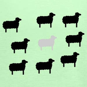 Grass green sheep, lamb, lambs, wool, black, goat, stupid Women's Tees - Women's Tank Top by Bella