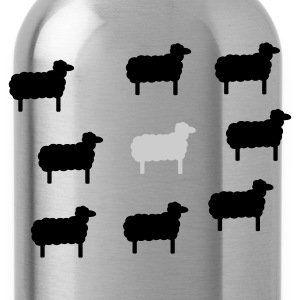 Grass green sheep, lamb, lambs, wool, black, goat, stupid Women's Tees - Water Bottle