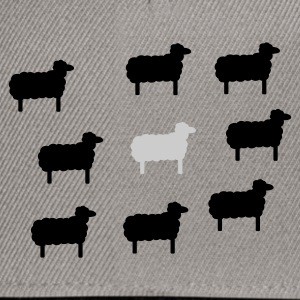Grass green sheep, lamb, lambs, wool, black, goat, stupid Women's Tees - Snapback Cap