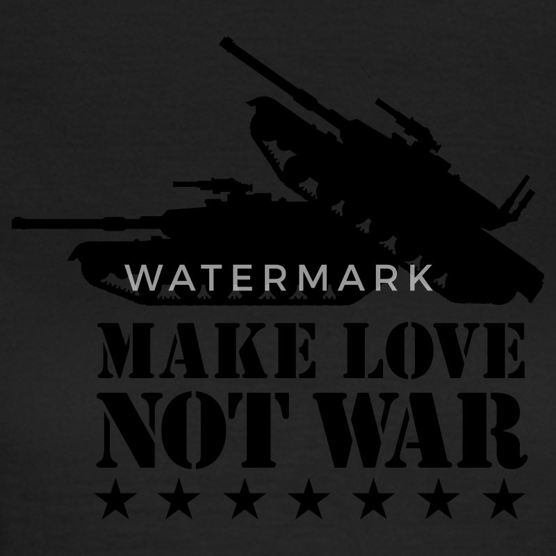 Olijfgroen Make love not war 1clr T-shirts - Vrouwen T-shirt
