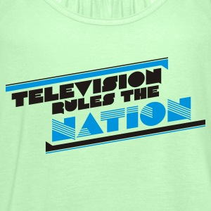 Grasgrün television rules the nation T-Shirts - Frauen Tank Top von Bella