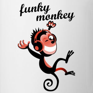 funky monkey red - Tasse