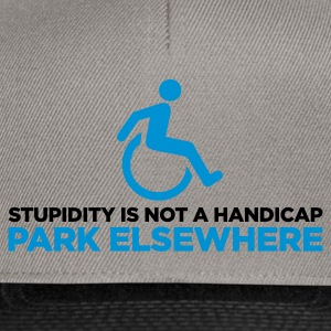 Stupidity is not a Handicap 2 (ENG, 2c) - Snapback Cap