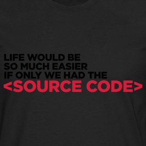 Life Source Code 1 (ENG, 2c) - Men's Premium Longsleeve Shirt