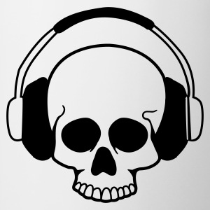 Wit Skull headphones T-shirts - Mok