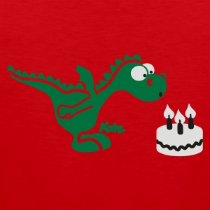 Rouge Happy Birthday, petit dragon (c) T-shirts - Débardeur Premium Homme
