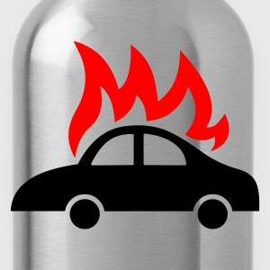 burning car - Water Bottle
