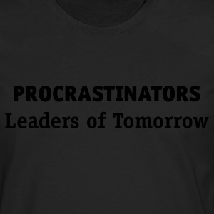 Procrastinator - Leaders of Tomorrow (1c, ENG) - Herre premium T-shirt med lange ærmer