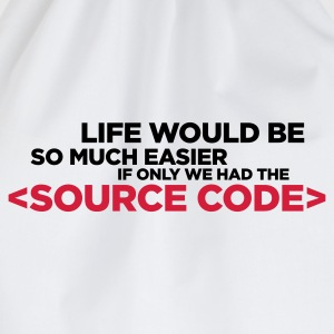 Life Source Code 2 (ENG, 2c) - Drawstring Bag