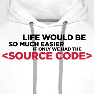 Life Source Code 2 (ENG, 2c) - Men's Premium Hoodie
