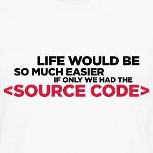 Life Source Code 2 (ENG, 2c) - Men's Premium Longsleeve Shirt