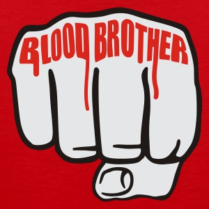 Rot Blood Brother  © T-Shirts - Premium singlet for menn