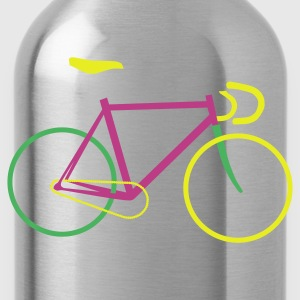 Braun Fixie Bike colored T-Shirts, Fahrrad T-Shirt - Trinkflasche