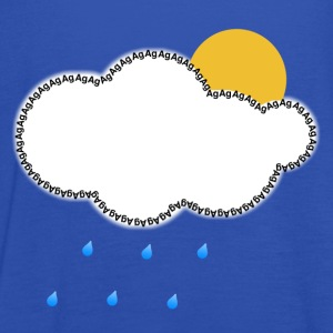 Sky Every Cloud has a Silver Lining Men's T-Shirts - Women's Tank Top by Bella