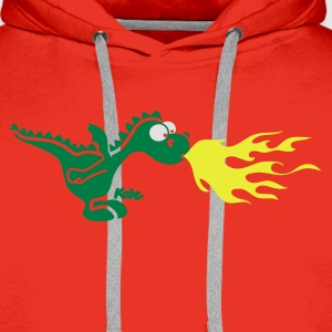 Red little fire dragon (c) Women's T-Shirts - Men's Premium Hoodie