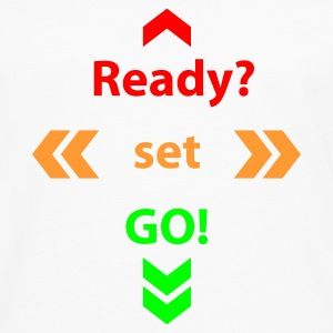Weiß Ready Set Go © T-Shirts - Men's Premium Longsleeve Shirt