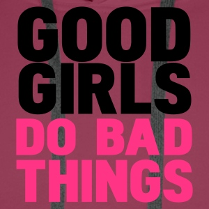 Rose good girls do bad things T-shirts - Sweat-shirt à capuche Premium pour hommes