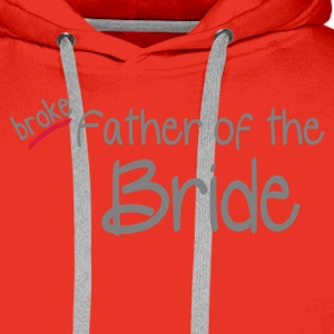 Red Father of the Bride Men's T-Shirts - Men's Premium Hoodie